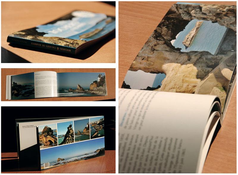 Livre Rochers & falaises de Biarritz éd. Galligrasseuil Mathieu Béchac maquettiste PAO