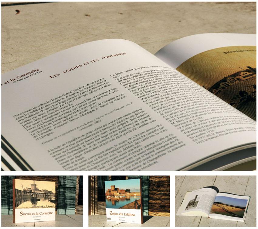 Livre Socoa et la Corniche éd. Arteaz Mathieu Béchac maquettiste PAO