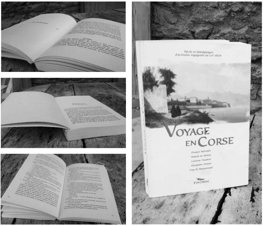 Livre Voyage en Corse éd. Pimientos Mathieu Béchac maquettiste PAO