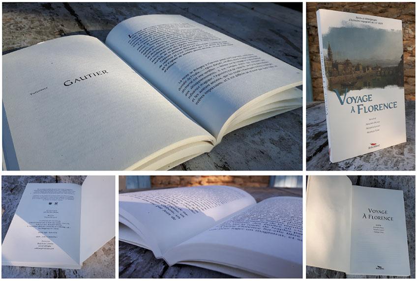 Livre Voyage à Florence éd. Pimientos Mathieu Béchac maquettiste PAO
